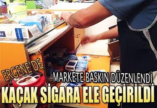 ergene_market_kacak_sigara_ele_gecirildi